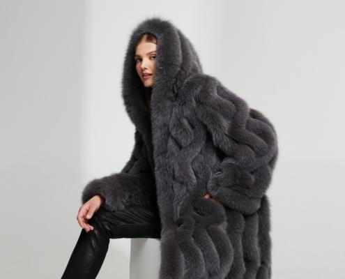 Fox fur coat, reevrsible