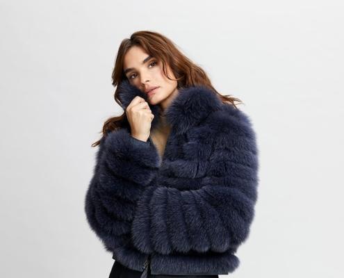 Fox fur jacket, reversible