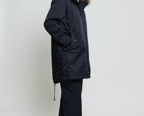 Men's parka with fur lining